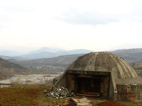 Evidence of conflict near Elbasan, Albania