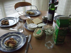 Brunch spread (Amy Watts) Tags: cheese wine brunch pate applejuice cheeses