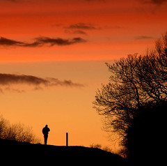 Sunset Stroll (~Glen B~) Tags: uk sunset england silhouette nikond70 cleveland croft teesside northyorkshire hurworth flickrsbest tamron26300mm satelliteportfolio