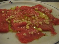Carpaccio de solomillo como plato de carne