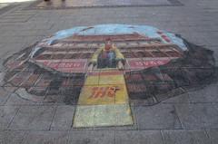 Pavement Art (tim ellis) Tags: uk art chalk birmingham pavement arcadian julianbeever
