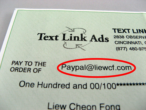 PayPal address on TLA Check
