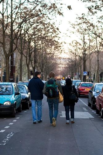 walking to Yann's car