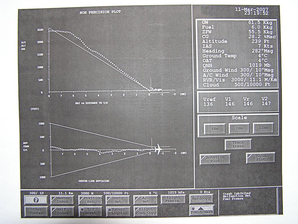Simulador A320 - Aproximación con Fallo de Motor