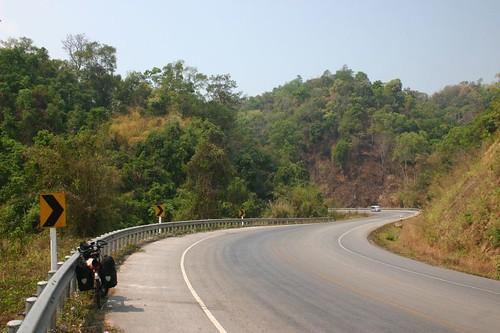 Smooth cycling outside Chiang Mai...