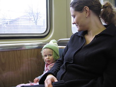 Mom and Z on CTA
