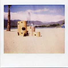 Steady (~KIM~) Tags: blue de polaroid doubleexposure double lifegaurd spectra