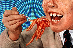 TV (Menazort) Tags: red food art television photoshop ads ginger tv yummy flickr image artistic eating photoshopped teeth tube things gums pasta pop redhead advertisement eat commercial emergence noodles 40 freckles spagetti subgenius consumerism commercials adverts freckle yap penguineater menazort yappity