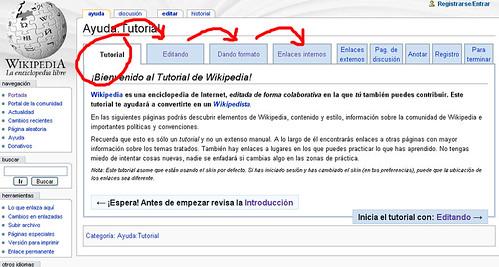 Cómo moverse por el tutorial de Wikipedia
