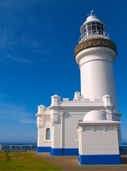 Cape Byron Lighthouse (Erik K Veland) Tags: sky lighthouse color texture nature architecture contrast istockphoto australia saturation qld queensland newsouthwales byron byronbay lordbyron capebyron easternmost utatafeature