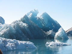 Bottoms Up (mblibby) Tags: travel blue summer cold ice iceland europe honeymoon crystal marriage lagoon glacier iceberg canonpowershota610
