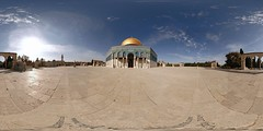 Dome of the Rock, Haram al-Sharif, Temple Mount - Jerusalem, Old City - 360 (Sam Rohn - 360 Photography) Tags: travel panorama architecture geotagged photography israel photo interesting nikon shrine arch peace exterior d70 nikond70 palestine muslim islam jerusalem middleeast paz domeoftherock mosque location panoramic medieval photograph dome handheld pace judaism nikkor filmmaking stitched holyland filmproduction 360x180 oldcity islamic qtvr scouting 360 paix islamicarchitecture templemount 360x180 panography alquds filmlocation locationscouting virtualtour locationscout equirectangular 105mmf28gfisheye filmlocations haramalsharif rohn muslimarchitecture filmscouting nylocations samrohn realvizstitcher locationscouts geo:lat=31777614 geo:lon=35235225 virtualjerusalem filmscout virtiualtour