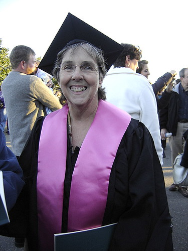 Mom on Graduation day
