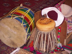 Musical Instruments from Northern Pakistan. Dol and Tabla (Pasvic Surgeon) Tags: hunza passu gojal