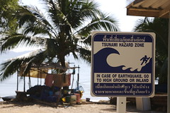 Tsunami sign in Ko Lanta