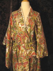 Cotton Paisley Kimono closeup shown without obi