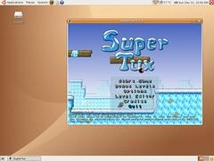 Ubuntu - SuperTux game Screenshot