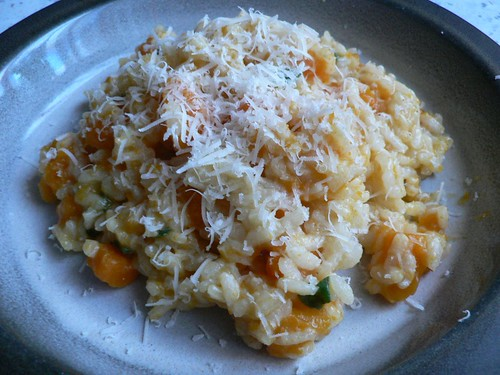 Butternut squash risotto with sage