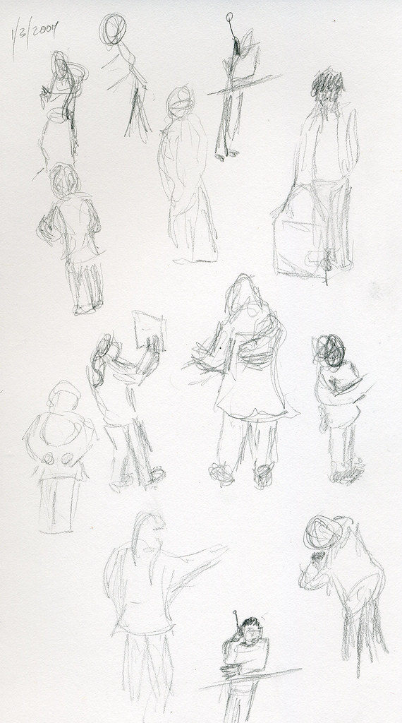 Gesture drawings from the mall