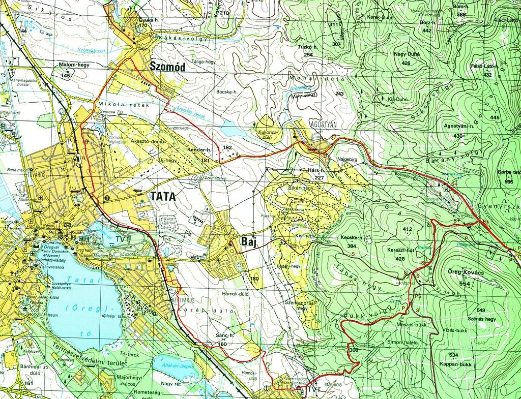 Szomódi futás térképe