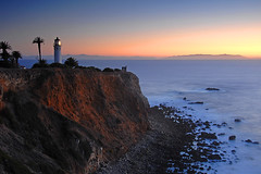 Point Vicente (wmchu) Tags: california sunset sea lighthouse pacific dusk palosverdes pointvicente travelerphotos