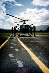 taking flight (szeing) Tags: travel film hawaii lomo lca lomography footprints helicopter transportation kauai princeville kodakportra160nc heliusa