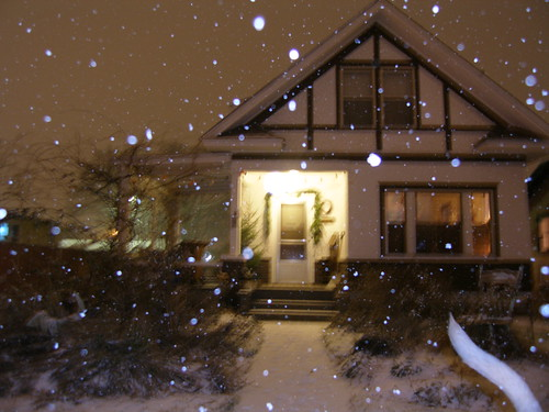 the snow and our house