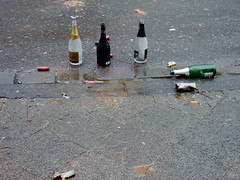remain (mascha_?) Tags: grey sylvester wine bottles empty asphalt newyearsday