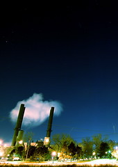 Toy cloud (Chuckumentary) Tags: longexposure cloud night industrial smoke minneapolis pollution