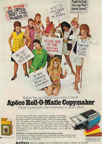 Vintage Ad #145 - We Want Our Apeco Roll-O-Matic Now!