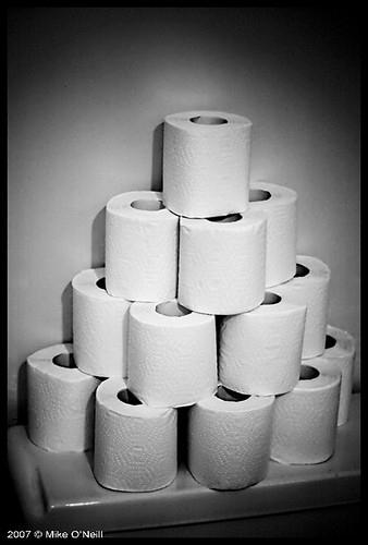Toilet Paper Pyramid by Pygo.
