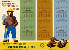 1958 Smokey the Bear Calendar