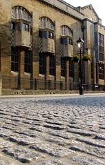 Evening sun, Bristol Central Library (archidave) Tags: uk england architecture modern bristol macintosh evening library carving relief cobbles modernist holden artsandcrafts oriel gradeilistedbuilding
