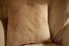 Rose pillow - backside