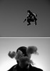 Puffin Jump Diptych #1 (Paul Octavious) Tags: bw diptych jumpseries puffinclouds diptychthis tabudunny