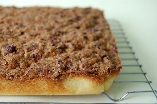 Pecan Coffee Cake on Rack