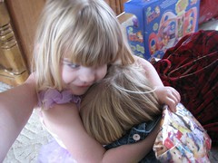 Sister birthday hugs
