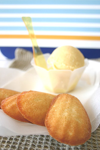 Madeleines and Baileys Ice Cream
