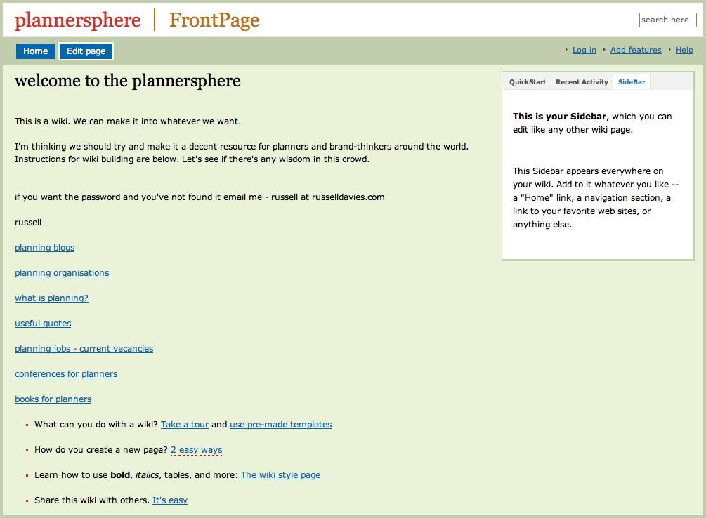 planner wiki