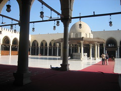 Central courtyard, Mosque of Amr (helen_romberg) Tags: architecture egypt mosque historic cairo islamiccairo amribnalas