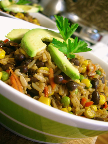 Rainbow Rice and Beans