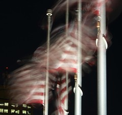 Gallantly Streaming (radarbrat photography) Tags: pictures motion eye night canon photography photo pretty photos indianapolis flag picture indiana canonxt digitalrebel usflag oldglory downtownindianapolis canondigitalrebelxt unitedstatesflag gallantlystreaming inpatriotism radarbrat