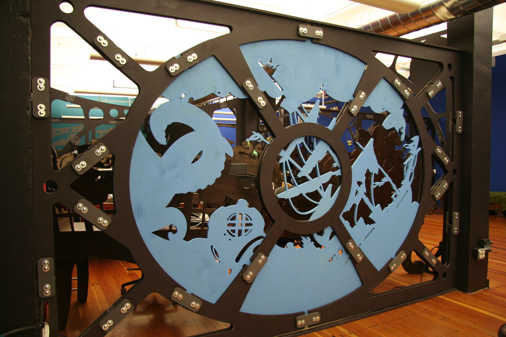 steampunk office. steampunk office interior design and fabrication