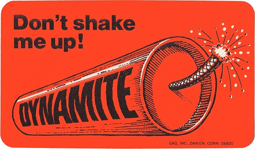 Cereal Lite Ups - Don't Shake Me Up Dynamite - Honeycomb cereal premium sticker - 1977