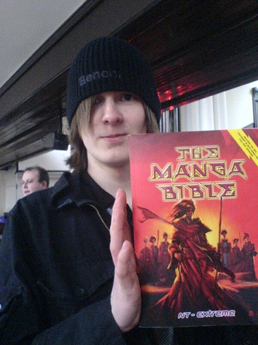 Alistar with his Manga Bible