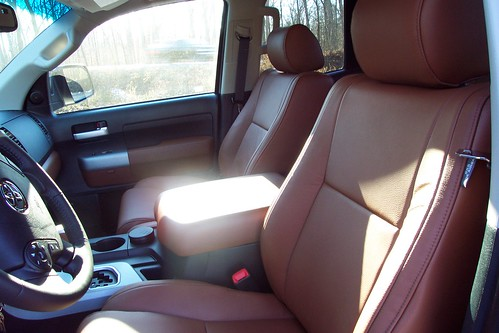 Red rock leather interior toyota tundra forums tundra for Toyota tundra leather interior