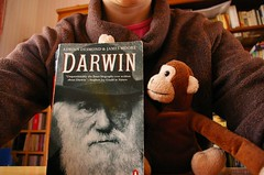 Darwin Day (30/365) (WeeRobbie) Tags: me monkey book darwin darwinday 365days alice13207