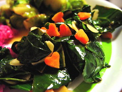 Collard Greens with Carrots and Almonds