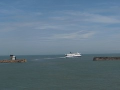 Ferry Leaving Calais - by graham chandler