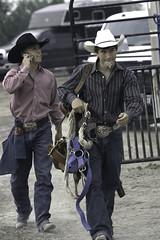 Communication (Ranger 1) Tags: cowboys canon bareback cowboy texas rodeo tinted 30d uvalde uvaldetexas collegerodeo barebackrider